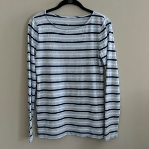 J Crew Painter Tee Striped Long Sleeve Size M